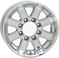17.5x6.75 Series07 Silver Aluminum HiSpec Trailer Wheel, 8 Lug, 4850 lb Max Load