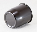 3.19 in Black Steel Closed-Ended Trailer Wheel Center Cap