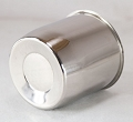 4.25 in Trailer Wheel Center Cap, Chrome Plated Steel Closed End