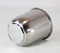 3.19 in Stainless Steel Trailer Wheel Center Cap Open End with Removable Plug
