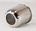 3.30 in Trailer Wheel Center Cap Stainless Steel Open End 120EZSS