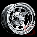 15x6 Chrome Spoke Steel Trailer Wheel 5 Lug, 2600 lb Max Load