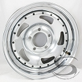 15 x 6 Carlstar Chrome Blade Trailer Wheel 5 on 4.50 with Rivets, 2150 lb Capacity