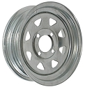 12x4 Galvanized Steel Spoke Trailer Wheel 4x4 Lug, 1045 lb Max Load