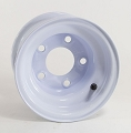 8x5.375 OEM Trailer Wheel, White Painted Steel, 5x4.50 Lug 915 lb Max Load