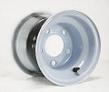 8x7 Solid White Steel OEM Trailer Wheel, 5 on 4.5 Bolt, 940 lb Max Capacity