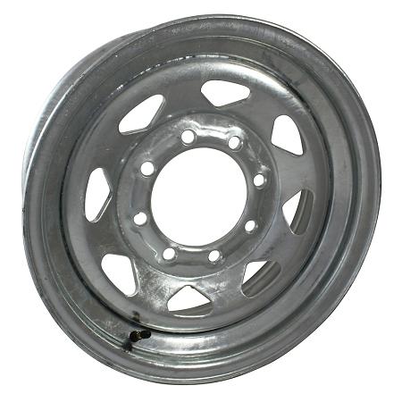 16 X 6 Galvanized Steel Spoke Trailer Wheel 8 Lug 3750 Lb