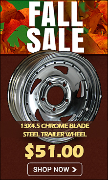 13 inch Chrome Blade Steel Trailer Wheel On Sale