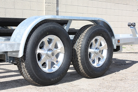St205 75r14 Radial Trailer Tire And 14 Inch 5 Bolt Series 6 Aluminum
