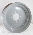 17.5x6.75 Grey Commercial Truck/Trailer Wheel 8x6.50 Lug (FLANGE NUT REQUIRED: 5/8