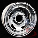 14x6 Chrome Blade Steel Trailer Wheel 5 Lug, 1900 lb Max Load