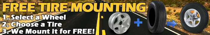 Free Trailer Tire Mounting with Wheel and Tire purchase.