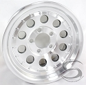 14x6 Aluminum Mod Trailer Wheel with Rivets 5 Lug, 1900 lb Max Load