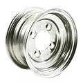 8x3.75 Galvanized Trailer Wheel 4 Lug, 1075 lb Max Load