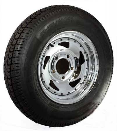 St175 80d13 Inch Bias Ply Trailer Tire With 13 In Chrome Blade