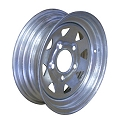 12x4 Greenball Galvanized Steel Spoke Trailer Wheel 5 Lug, 1220 lb Max Load