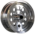 15x6 HiSpec 03 Aluminum Modular Trailer Wheel 5x4.5, 2150 lb Load Capacity