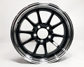 15x5 inch Aluminum Hi-Spec Series LW Trailer Wheel, Black Machined, 5 on 4.5 Lug, 1820 lb Capacity