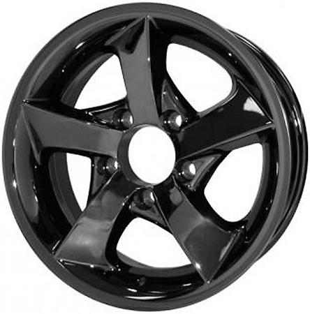 14x5 5 Dark Chrome Twisted Star S02vcd Trailer Wheel 5