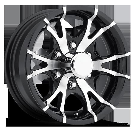 16 X 6 Viper T07 Black Machined Trailer Wheel 6 Lug 3 200