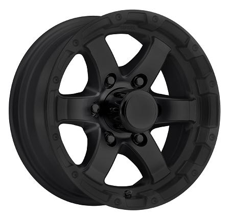 14x5 5 T08 Grinder Matte Black Trailer Wheel 5x4 5 T08 45545mb