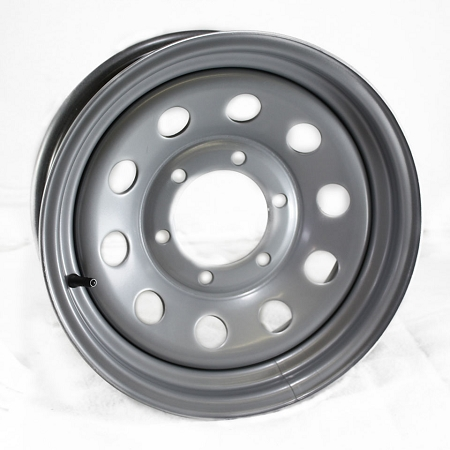 15x6 Steel Silver Painted Modular Trailer Wheel 6x5 50