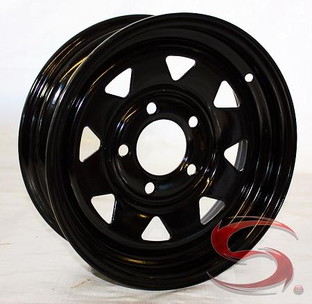 Camper Wheel Chocks >> 13 inch Steel Spoke Trailer Rim Black Painted 5 on 4.50