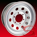 15x6 White Modular Trailer Wheel (10-Hole), 6 Lug, 2830 lb Max Load