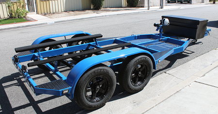 18x8 Black T08 Sendel Aluminum Trailer Wheel 6x5 50 Lug