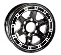 16x6 T11 Sendel Aluminum Trailer Wheel, 6 on 5.50 Lug, 3,200 lb Max Load