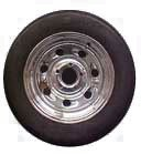 ST20575D14 LR C Tire and Chrome Tailgunner Steel Trailer Wheel Assembly
