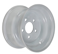 8x3.75 White Steel Trailer Wheel 5x4.50 Bolt, 900 lb Max Load