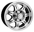 16x6 SAWTOOTH Aluminum Trailer Wheel 6x5.5 3200 lb Max Load with Center Cap