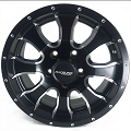 14x6 Aluminum Mamba Matte Black Trailer Wheel, 1900 lb Max Load