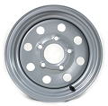12 x 4 Silver Modular Steel Trailer Rim 5 on 4.50  2724012-92141