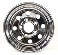 12x4 Chrome Modular Steel Trailer Rim 5 on 4.5 Lug 2824012-92191