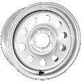 15 x 6 Silver Modular Steel Trailer Wheel 5 x 4.5 Bolt Pattern