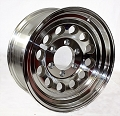 16x7 HiSpec Series 03 Aluminum Mod Trailer Wheel 6 Lug, 3200 lb Max Load