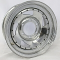 15 x 6 Chrome Blade Steel Trailer Wheel 6 on 5.50 Bolt Pattern with Rivets