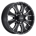 15x5 Raceline Mamba Black Aluminum Trailer Wheel 5x4.50 Bolt, 1870 lb Max Load, incl Center Cap