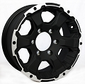 15x6 Black Rock Intruder 910B Aluminum Trailer Wheel 6 Lug, 2830 lb Max Load