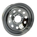 14x5.5 Chrome Modular Steel Trailer Wheel No Rivets, 5 Lug, 1870 lb Max Load