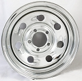 15x5 inch Steel Chrome Tail Gunner Wheel  5 Lug,1870 Max Load