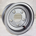 8x3.75 Silver Painted Steel Trailer Wheel 5 on 4.50 Bolt, 900 lb Max Load