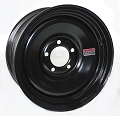 14x6 Black Solid Steel Trailer Wheel 5 Lug, 1870 lb Max Load