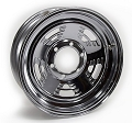 16x6 Weekend Warrior Chrome Steel A-Style Trailer Wheel 6 Bolt, 3,760 lb Max Load