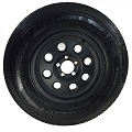ST225/75R15 Carlisle Radial Trail HD Tire LRC with 15x6 Yuma Matte Black Aluminum Trailer Wheel 2150 lb Capacity