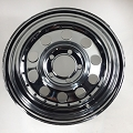 14x6 in Chrome Modular Steel Trailer Wheel with Rivets 5 Lug, 1900 lb Max Load