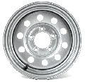 13 x 4.5 Silver Modular Steel Trailer Wheel 5 on 4.50 S1345545MS