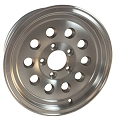 18x8 Silver Machined Modular Aluminum Trailer Wheel, 5x4.50 Lug, 2200 lb Capacity